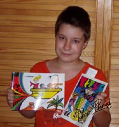 Leszek Krzysztoń, lat 10 i pół, uczeń czwartej klasy SP im. ks. Jana Twardowskiego z Warszawy.