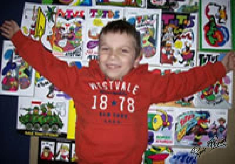 Hubert Górski, lat 8,Przelewice.