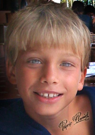 Marcus Tytus Chmielewski, lat 8, Pasadena, Kalifornia, USA wnuk Papcia. Data dodania zdjęcia: 18.11.2010