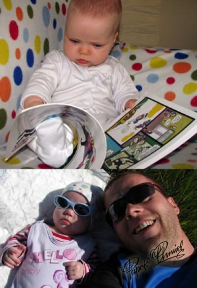 Hania i Piotr Blachnik, 0,5 roku, tato 66 razy więcej z Wałbrzycha. Data dodania zdjęcia: 17.06.2012
