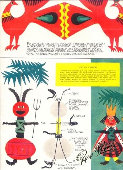 "Rok1962 ""Nasza Ojczyzna"" - zabawki na choinkę, pomysł HCH."