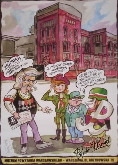Rok 2004. Narysowany na otwarcie Muzeum Powstania Warszawskiego. 100 x 70 cm. Wyd. Muzeum. Sprzedawany w sklepiku Muzeum.