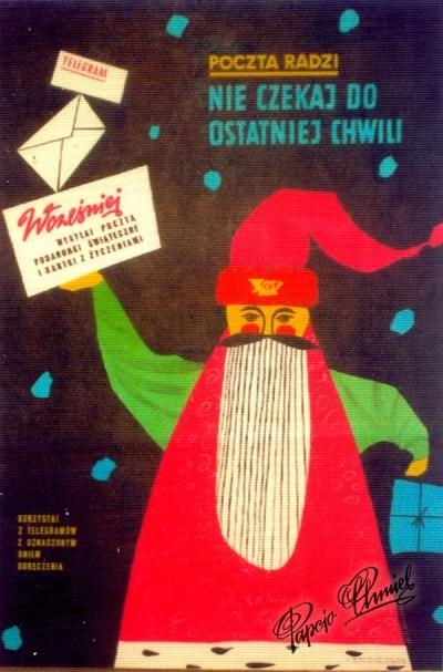Rok 1963. Dziadek Mróz, 50 x 70 cm. Poczta Polska MPiT.