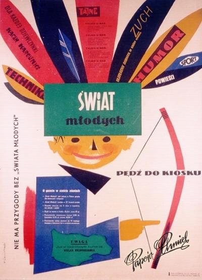 """Rok 1961. Biuro Wydawnicze """"RUCH"""". 48 x 68 cm."""