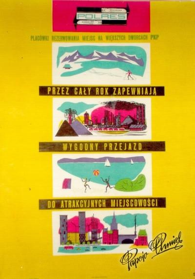 """Rok 1957. """"Polres""""- plakat orbisowski. Wydawnictwo Artystyczno Graficzne."""