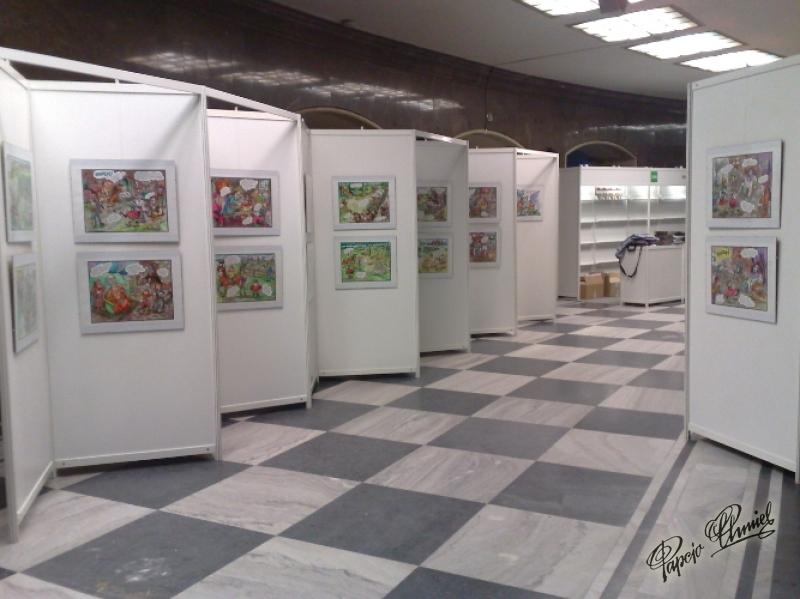widok na gotową wystawę