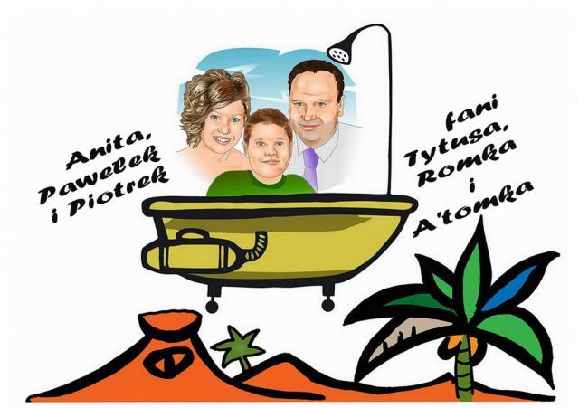 Paweł (lat 13), Anita (lat 33) i Piotrek (lat 38)fani przygód Tytusa z Gliwic